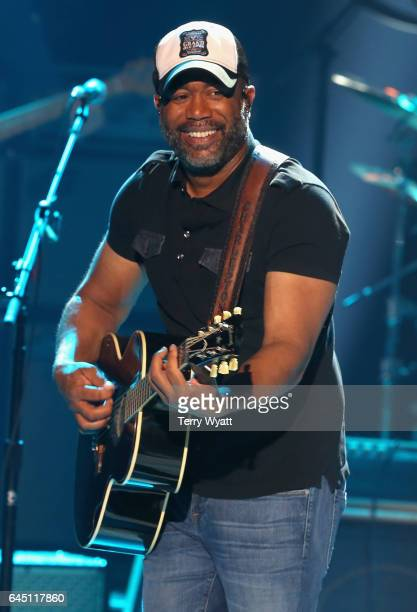 Recording artist Darius Rucker performs onstage during CMT Crossroads John Mellencamp and Darius Rucker on February 24 2017 in Nashville Tennessee