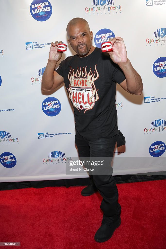 Recording artist Darryl 'DMC' McDaniels arrives for the 2015 Garden Of Laughs Comedy Benefit at the Club Bar and Grill at Madison Square Garden on March 28, 2015 in New York City.