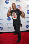 Recording artist Darryl 'DMC' McDaniels arrives for the 2015 Garden Of Laughs Comedy Benefit at the Club Bar and Grill at Madison Square Garden on...