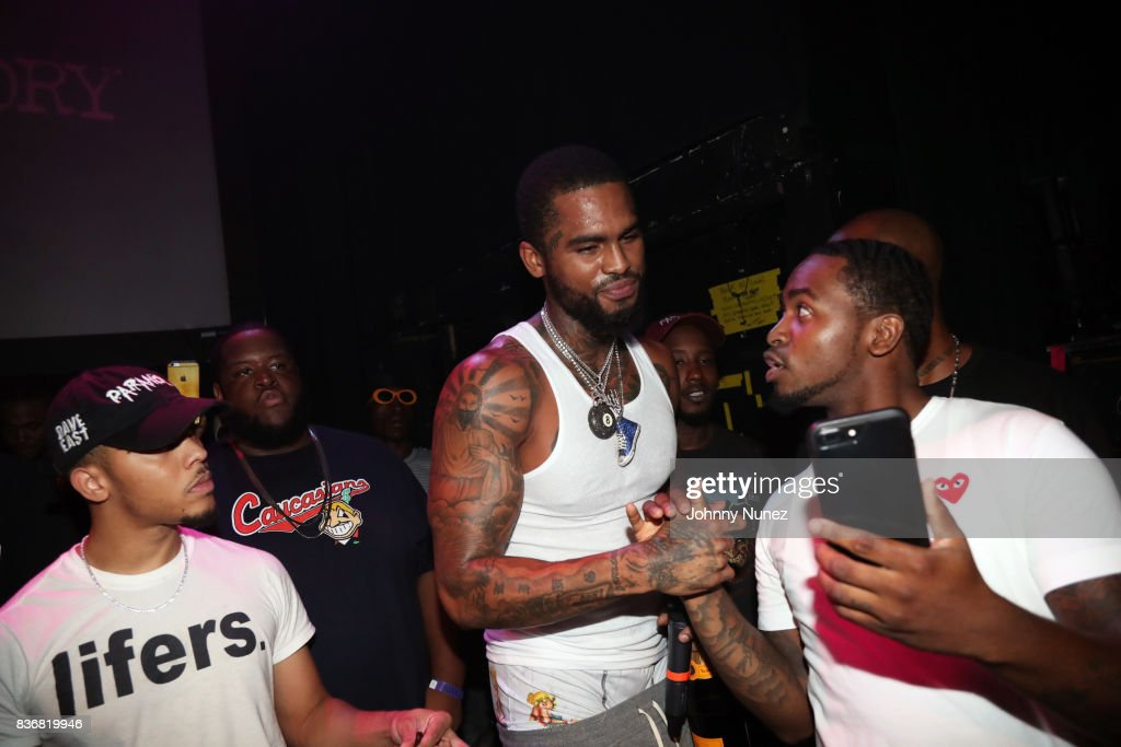 Recording artist Dave East (c) backstage at Gramercy Theatre on August 21, 2017 in New York City.