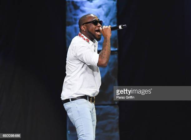 Recording artist Davido perform onstage at 2017 Andrew Young International Leadership Awards and 85th Birthday Tribute at Philips Arena on June 3...