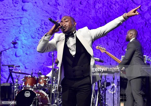 Recording artist Davido performs onstage at City Of Hope's 2016 Spirit Of Life Gala Honoring Greenberg Traurig's Joel A Katz at Santa Monica Beach on...