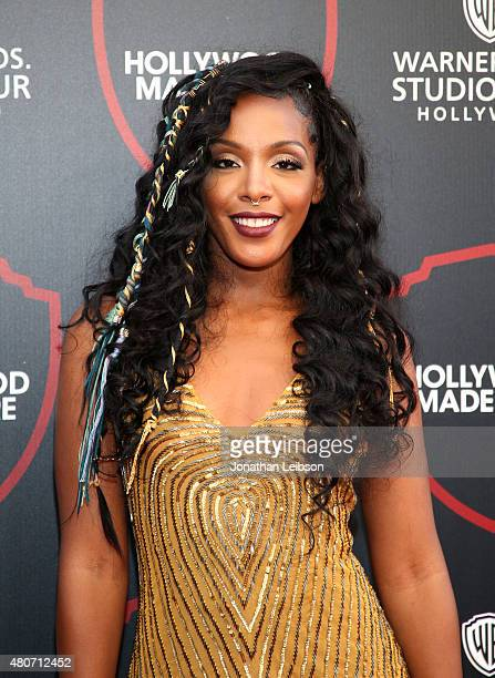 Recording artist Dawn Richard attends the Warner Bros Studio Tour Hollywood Expansion Official Unveiling Stage 48 Script To Screen at Warner Bros...