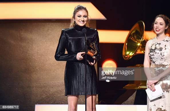 Recording artist Daya accepts the Best Dance Recording award for 'Don't Let Me Down' onstage at the Premiere Ceremony during the 59th GRAMMY Awards...
