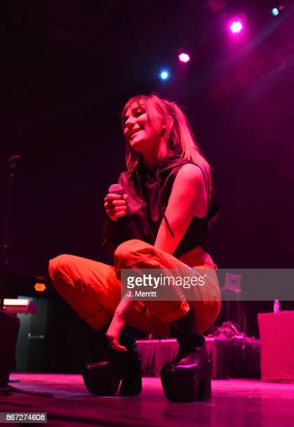 Recording artist Daya performs during the Kiss 961 Halloween Party 2017 at Stage AE on October 27 2017 in Pittsburgh Pennsylvania