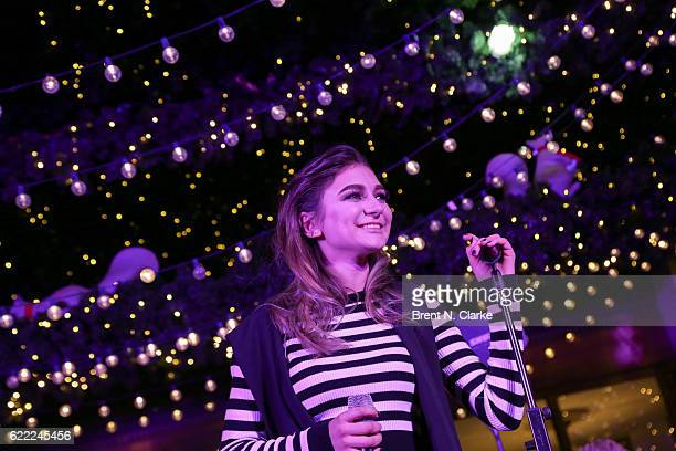 Recording artist Daya performs on stage during the 2016 Lord Taylor holiday windows unveiling held at Lord Taylor on November 10 2016 in New York City