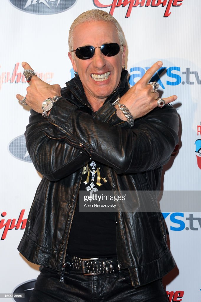 Recording artist <a gi-track='captionPersonalityLinkClicked' href=/galleries/search?phrase=Dee+Snider&family=editorial&specificpeople=239139 ng-click='$event.stopPropagation()'>Dee Snider</a> arrives at the Revolver/Guitar World Rock & Roll roast of <a gi-track='captionPersonalityLinkClicked' href=/galleries/search?phrase=Dee+Snider&family=editorial&specificpeople=239139 ng-click='$event.stopPropagation()'>Dee Snider</a> at City National Grove of Anaheim on January 24, 2013 in Anaheim, California.