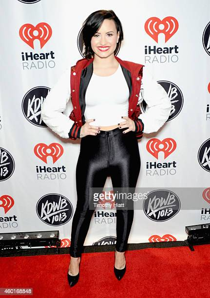 Recording artist Demi Lovato attends 1013 KDWB's Jingle Ball 2014 presented by Sky Zone Indoor Trampoline Park and Allstate at Xcel Energy Center on...