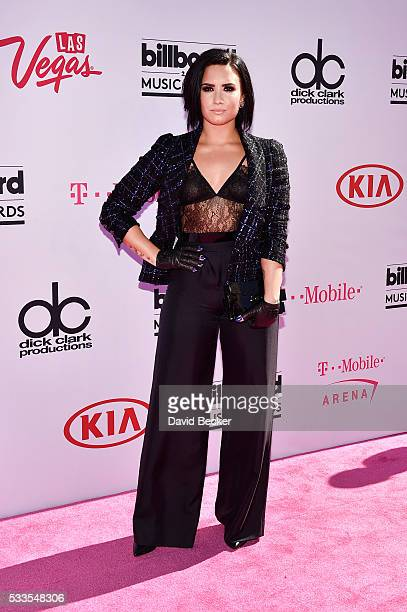 Recording artist Demi Lovato attends the 2016 Billboard Music Awards at TMobile Arena on May 22 2016 in Las Vegas Nevada