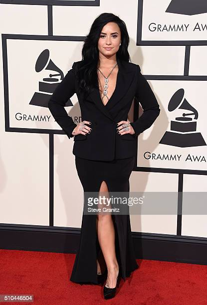 Recording artist Demi Lovato attends The 58th GRAMMY Awards at Staples Center on February 15 2016 in Los Angeles California