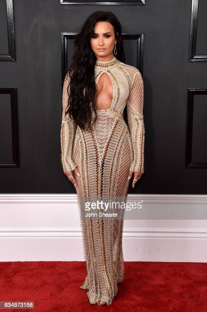 Recording artist Demi Lovato attends The 59th GRAMMY Awards at STAPLES Center on February 12 2017 in Los Angeles California