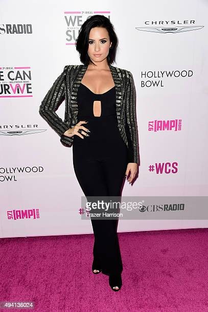 Recording artist Demi Lovato during CBS RADIOs third annual We Can Survive at the Hollywood Bowl on October 24 2015 in Hollywood California