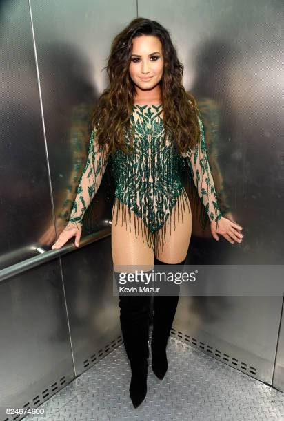 Recording artist Demi Lovato poses backstage at JBL Fest an exclusive three day music experience hosted by JBL at The Joint inside the Hard Rock...