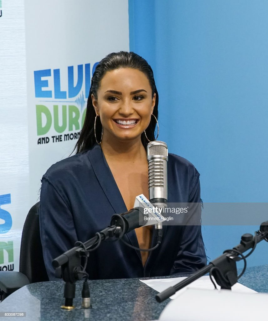 Recording artist Demi Lovato visits 'The Elvis Duran Z100 Morning Show' to discuss her upcoming album at Z100 Studio on August 17, 2017 in New York City.