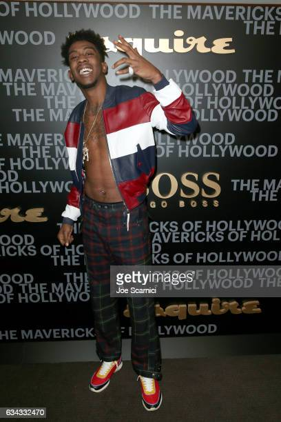 Recording artist Desiigner attends Esquire's celebration of March cover star James Corden and the Mavericks of Hollywood presented by Hugo Boss at...