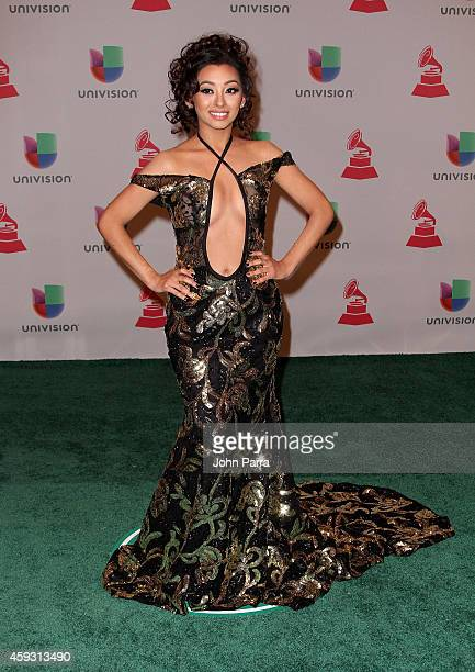 Recording artist Desiree Estrada attends the 15th annual Latin GRAMMY Awards at the MGM Grand Garden Arena on November 20 2014 in Las Vegas Nevada
