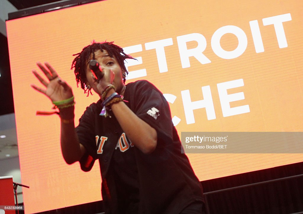 Recording artist Detroit Che performs onstage during the Coke music studio during the 2016 BET Experience on June 26, 2016 in Los Angeles, California.