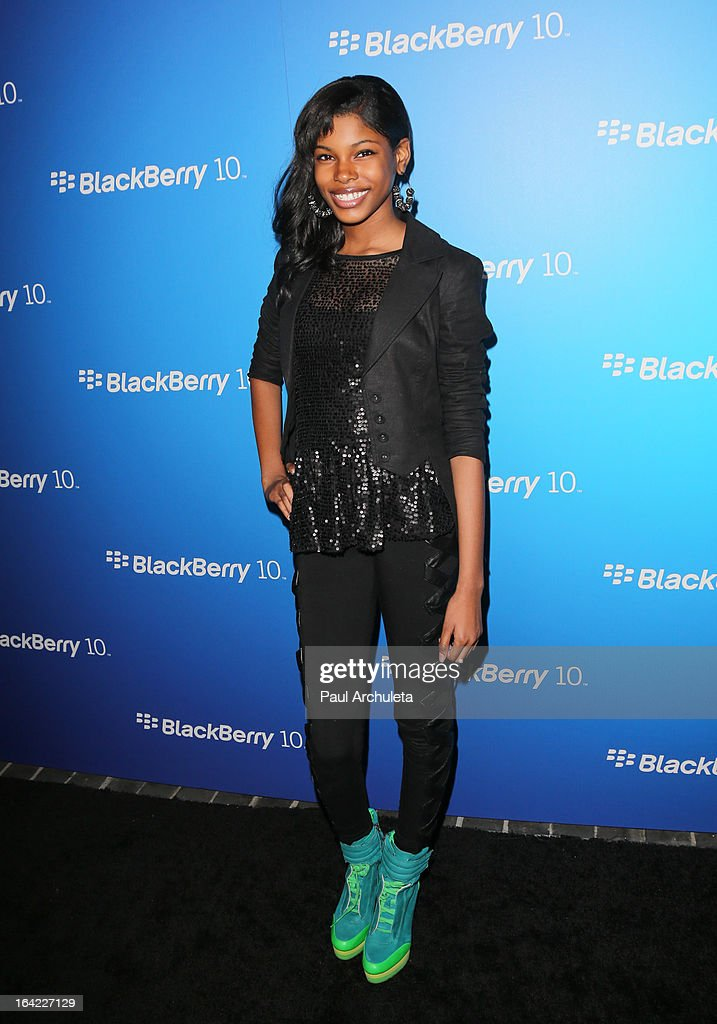 Recording Artist Diamond White attends the BlackBerry Z10 Smartphone launch party at Cecconi's Restaurant on March 20, 2013 in Los Angeles, California.