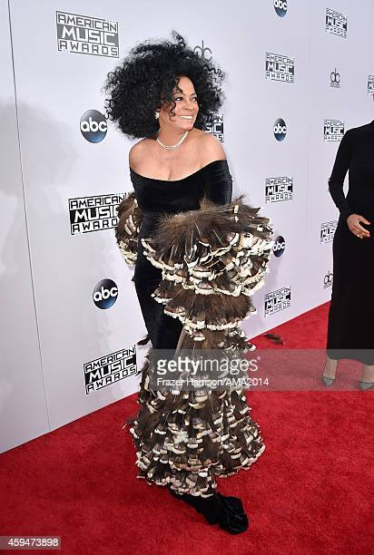 Recording artist Diana Ross attends the 2014 American Music Awards at Nokia Theatre LA Live on November 23 2014 in Los Angeles California