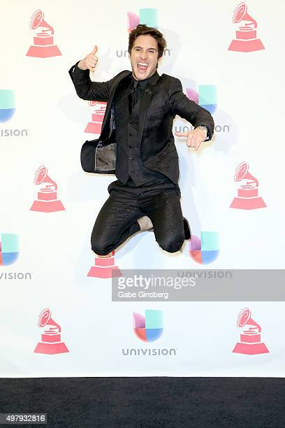Recording artist Diego Boneta poses in the press room during the 16th Latin GRAMMY Awards at the MGM Grand Garden Arena on November 19 2015 in Las...