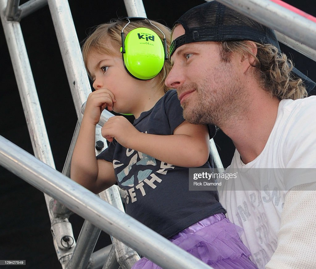 Recording Artist Dierks Bentley and Daughter backstage during Dierks Bentley's 6th annual Miles Music for Kids at Riverfront Park on October 16 2011...
