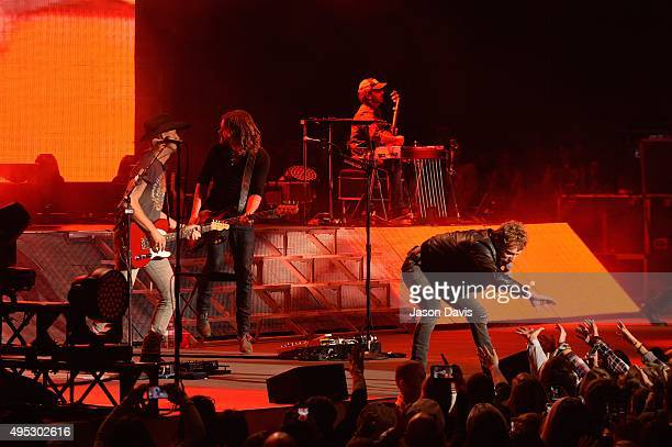 Recording Artist Dierks Bentley performs during the Dierks Bentley 10th Anniversary Miles and Music for Kids Benefit Concert at Ascend Amphitheater...