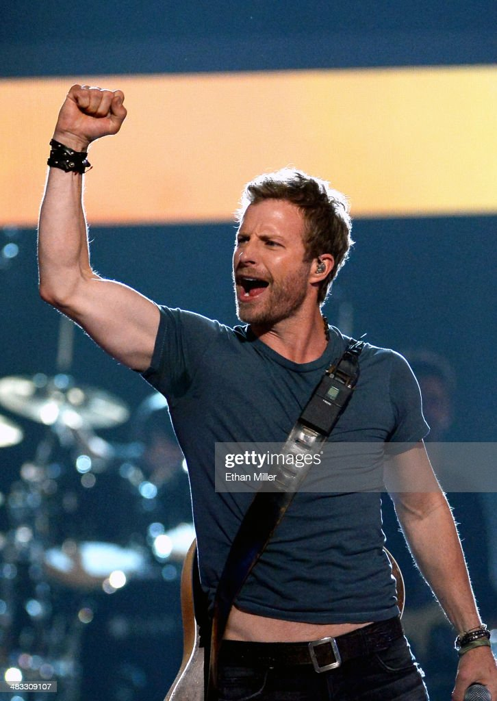 Recording artist Dierks Bentley performs onstage during ACM Presents An AllStar Salute To The Troops at the MGM Grand Garden Arena on April 7 2014 in...