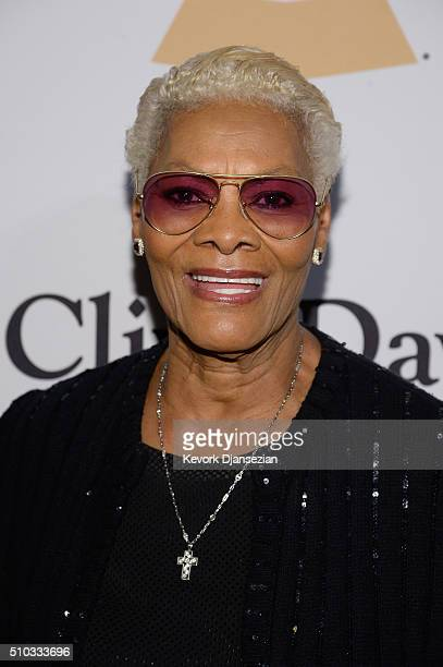 Recording artist Dionne Warwick attends the 2016 PreGRAMMY Gala and Salute to Industry Icons honoring Irving Azoff at The Beverly Hilton Hotel on...