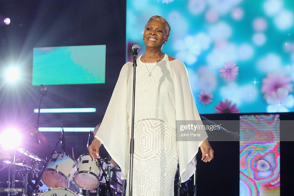 Recording artist <a gi-track='captionPersonalityLinkClicked' href=/galleries/search?phrase=Dionne+Warwick&family=editorial&specificpeople=213111 ng-click='$event.stopPropagation()'>Dionne Warwick</a> performs onstage during the 2015 Latin GRAMMY Person of the Year honoring Roberto Carlos at the Mandalay Bay Events Center on November 18, 2015 in Las Vegas, Nevada.