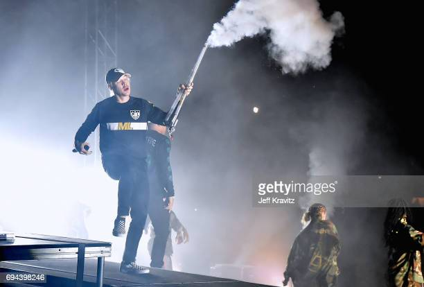 Recording artist Diplo of Major Lazer performs onstage at What Stage during Day 2 of the 2017 Bonnaroo Arts And Music Festival on June 9 2017 in...