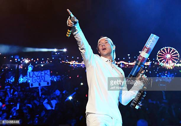 Recording artist Diplo of Major Lazer performs onstage during day 3 of the 2016 Life Is Beautiful festival on September 25 2016 in Las Vegas Nevada