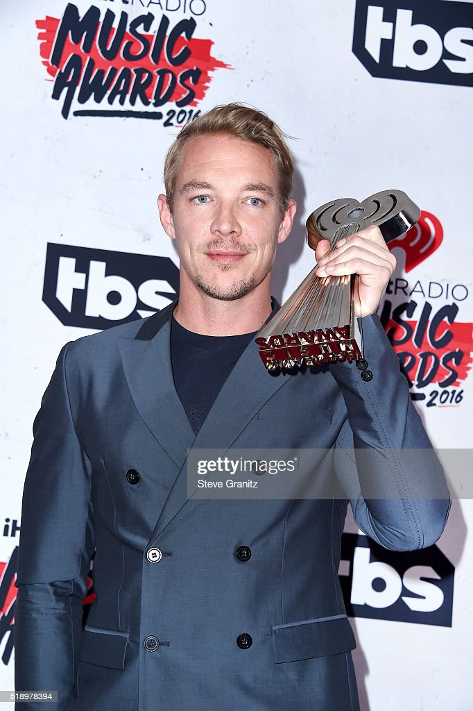 recording artist Diplo poses in the press room during the iHeartRadio Music Awards at The Forum on April 3, 2016 in Inglewood, California.