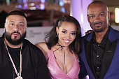 Recording artist DJ Khaled recording artist Tinashe and radio personality Big Tigger attend the BET Awards post show in the Cricket Lounge after the...