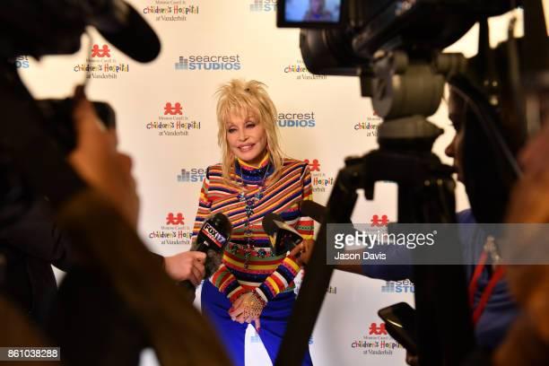 Recording artist Dolly Parton is interviewed in Seacrest Studio at Monroe Carell Jr Vanderbilt Children's Hospital to share music her own family's...