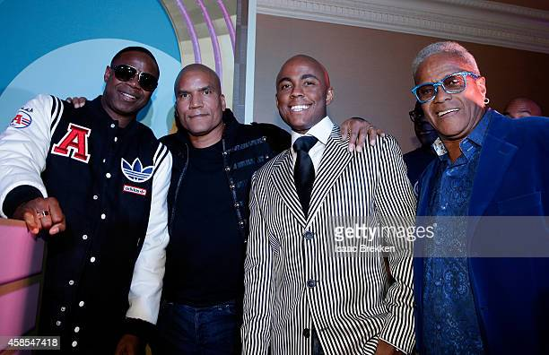 Recording artist Doug E Fresh CENTRIC Executive Vice President and General Manager Paxton Baker Farrah Gray and George Daniels attend the 2014 Soul...
