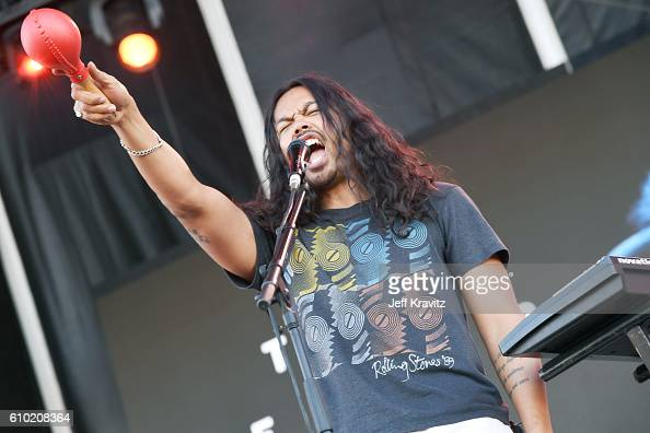 Recording artist Dougy Mandagi of The Temper Trap performs onstage during day 2 of the Life Is Beautiful festival on September 24 2016 in Las Vegas...