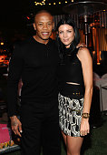 Recording Artist Dr Dre and model and designer Liberty Ross attend GENETIC x Liberty Ross Launch on August 22 2014 in Beverly Hills California