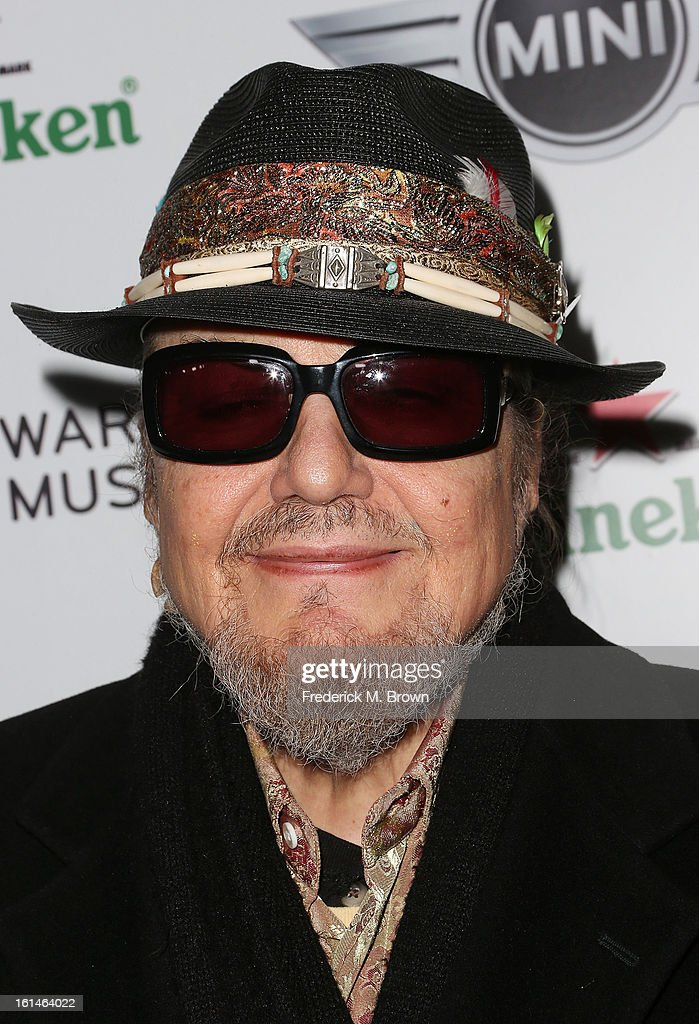 Recording artist <a gi-track='captionPersonalityLinkClicked' href=/galleries/search?phrase=Dr.+John+-+Musician&family=editorial&specificpeople=4012792 ng-click='$event.stopPropagation()'>Dr. John</a> attends Warner Music Group's 2013 Grammy Celebration at Chateau Marmont's Bar Marmont on February 10, 2013 in Hollywood, California.