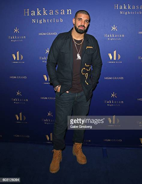 Recording artist Drake attends the after party for his concert at Hakkasan Las Vegas Nightclub at MGM Grand Hotel Casino on September 12 2016 in Las...