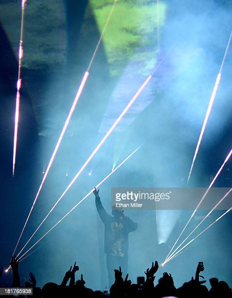 Recording artist Drake performs during the iHeartRadio Music Festival at the MGM Grand Garden Arena on September 21 2013 in Las Vegas Nevada