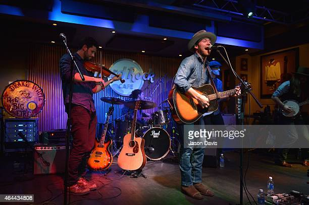 Recording artist Drake White performs during an evening with Big Machine Label Group Artists The Cadillac Three Drake White And Waterloo Revival at...