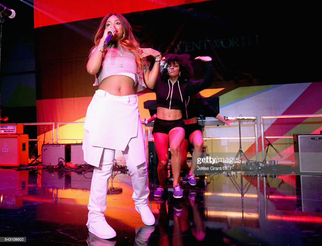 Recording artist Dreezy performs on the BETX Stage sponsored by Nissan and JG Wentworth during the 2016 BET Experience on June 25, 2016 in Los Angeles, California.