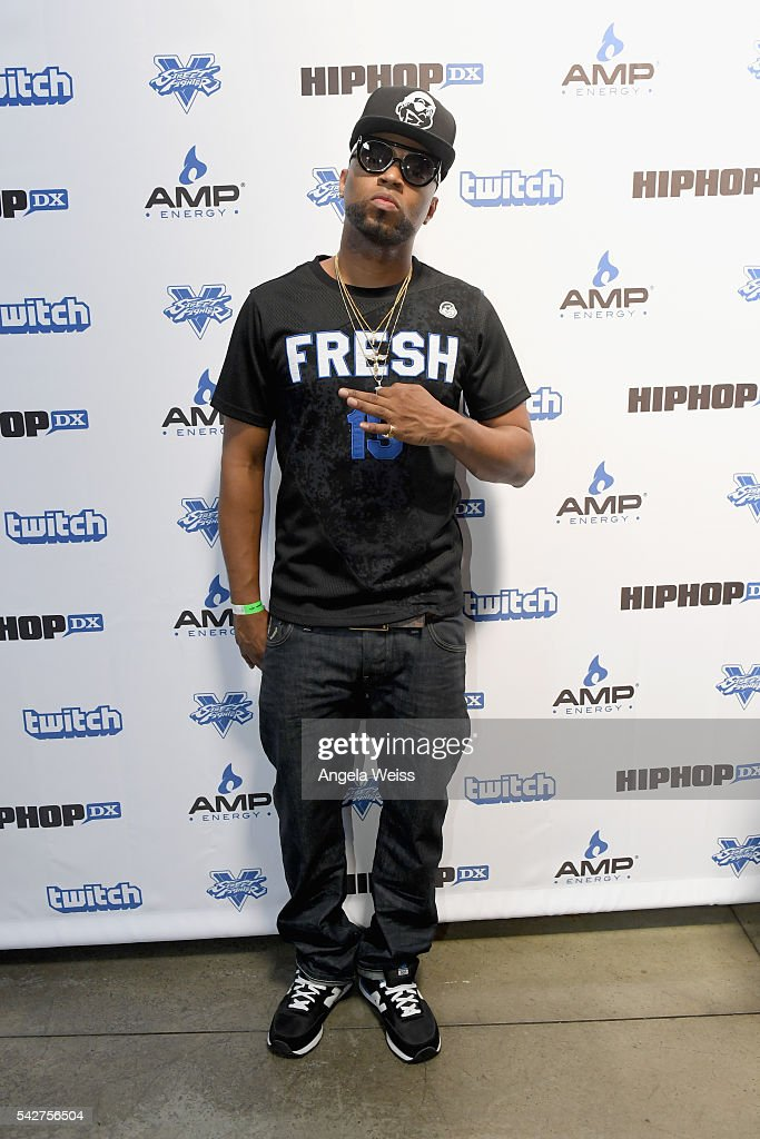 Recording artist Drumma Boy attends Next Level Presented By AMP Energy A Hip Hop Gaming Tournament at Rostrum Records on June 23 2016 in Los Angeles...