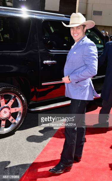 Recording artist Dustin Lynch attends the 49th Annual Academy of Country Music Awards at the MGM Grand Garden Arena on April 6 2014 in Las Vegas...