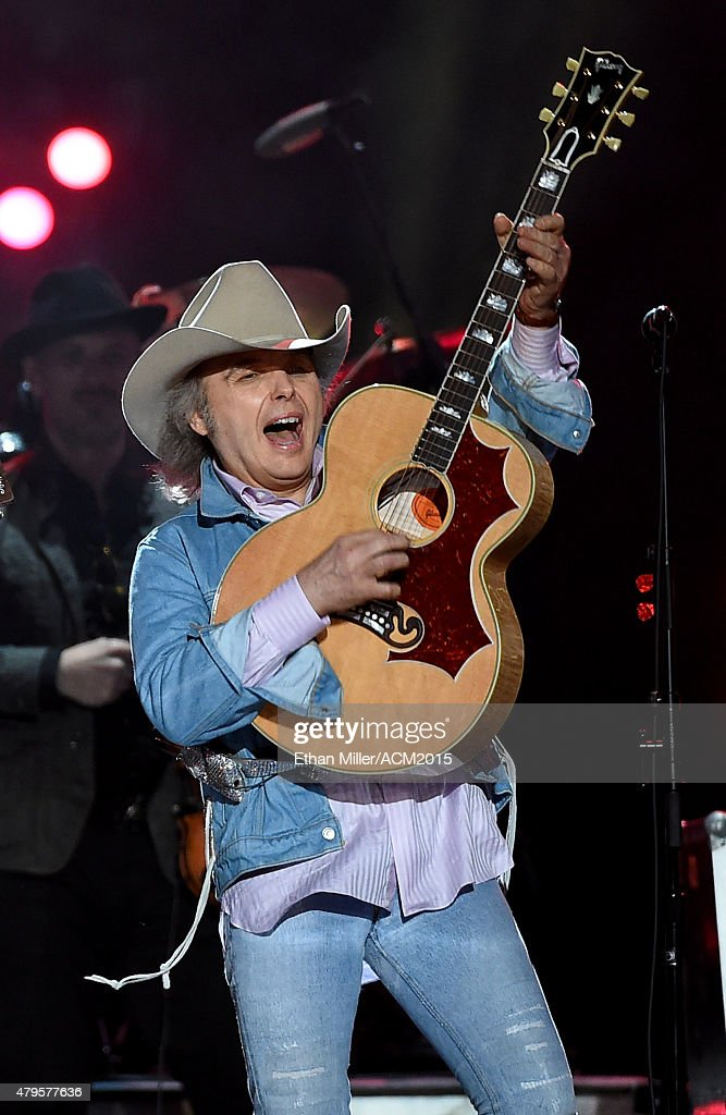 Recording artist Dwight Yoakam performs during ACM Presents: Superstar Duets at Globe Life Park in Arlington on April 17, 2015 in Arlington, Texas.