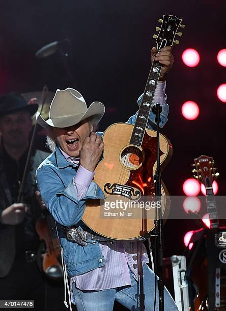 Recording artist Dwight Yoakam performs onstage during ACM Presents Superstar Duets at Globe Life Park in Arlington on April 17 2015 in Arlington...