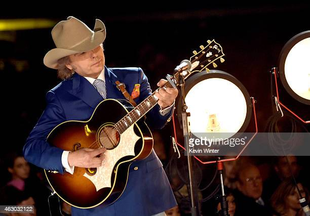 Recording artist Dwight Yoakam performs onstage during The 57th Annual GRAMMY Awards at the STAPLES Center on February 8 2015 in Los Angeles...