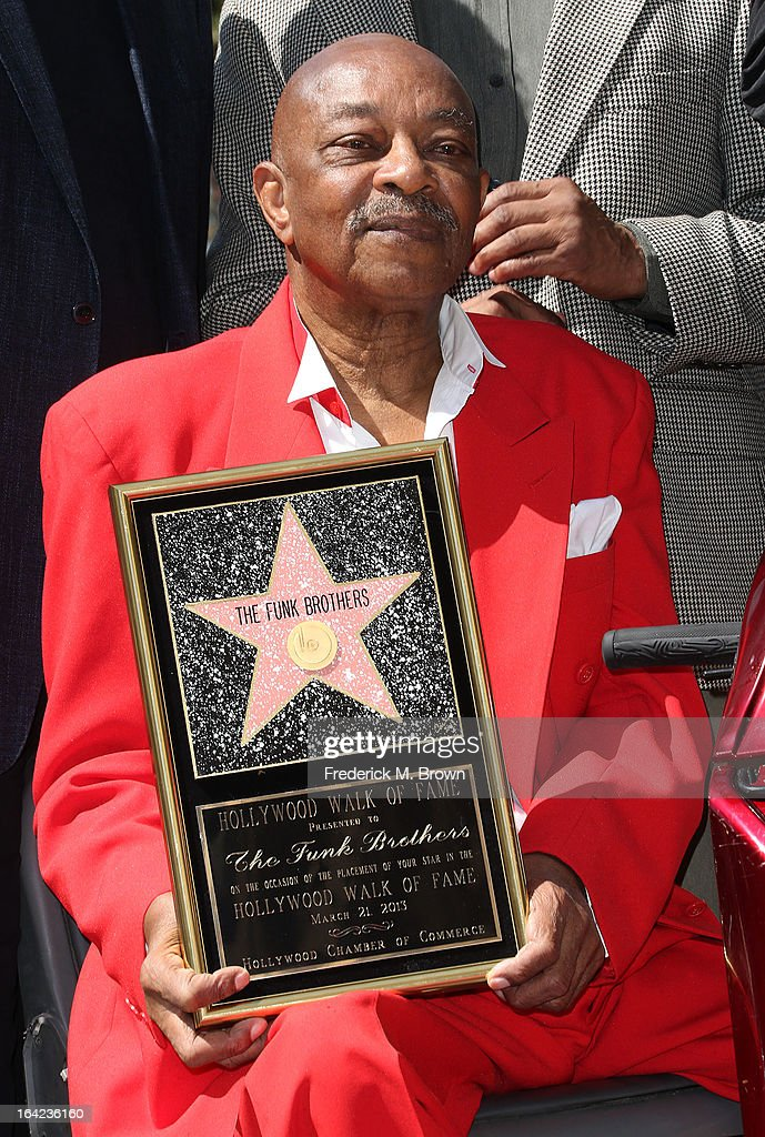 Recording artist Eddie Willis during the ceremony honoring The Funk Brothers on The Hollywood Walk Of Fame on March 21, 2013 in Hollywood, California.