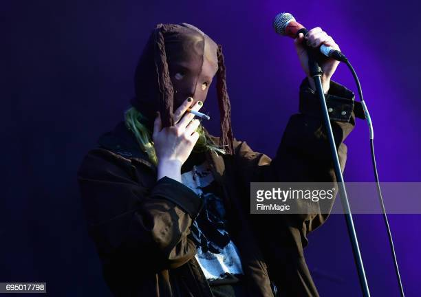 Recording artist Edith Frances of Crystal Castles performs onstage at Which Stage during Day 4 of the 2017 Bonnaroo Arts And Music Festival on June...