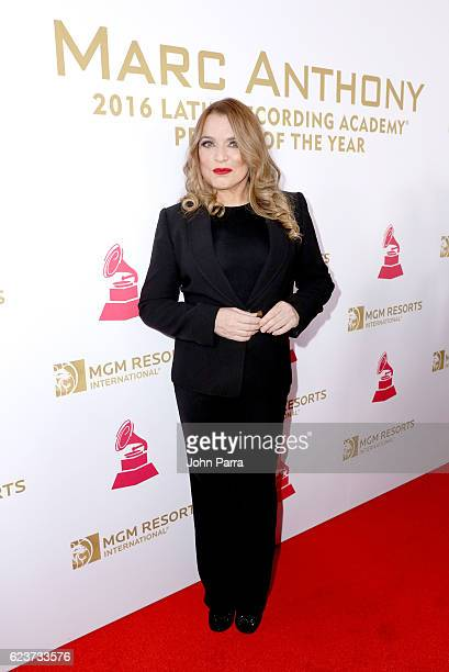 Recording artist Ednita Nazario attends the 2016 Person of the Year honoring Marc Anthony at the MGM Grand Garden Arena on November 16 2016 in Las...